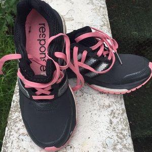Women's adidas dark grey tennis shoes